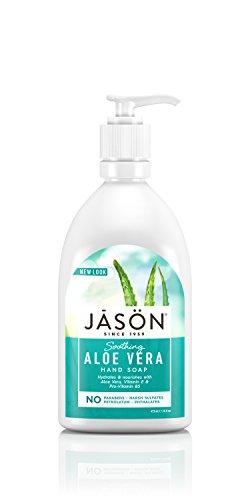 Jason Natural, Aloe Vera Satin Soap For Hands and Face 16 fl