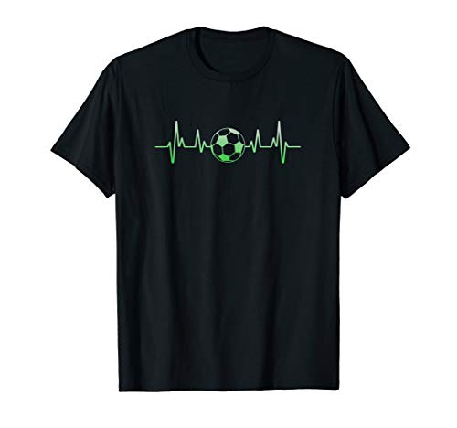 (Soccer Heartbeat T-Shirt Sports Soccer Gift Shirts for)