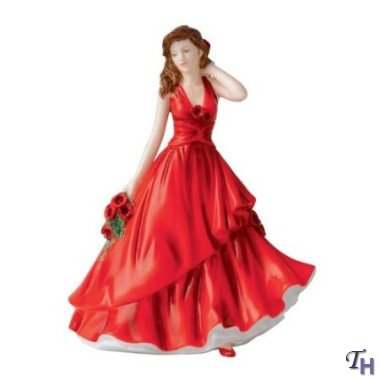 Birthday Figurine Doulton Royal (Royal Doulton Flower of the Month August Poppy Figurine)
