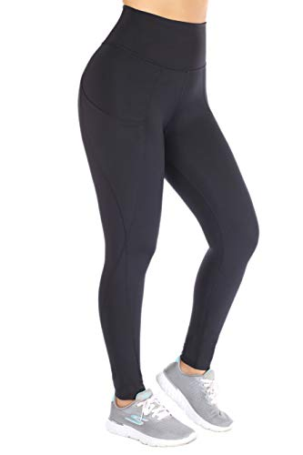 Curvify Ultra Soft High Waisted Thick Leggings - Non See Through | Black Yoga Leggings Pockets