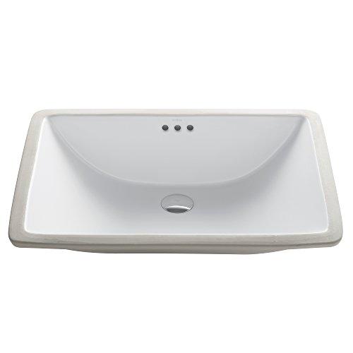 Kraus KCU-251 Elavo Bathroom Undermount Sink 23 Inch White