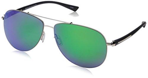 Bolon Men's (BL2555) Polarized Aviator Sunglasses - Silve...