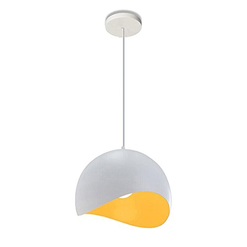Lightess Pendant Light Modern Mini Globe Edison Hanging Lamp White Yellow Metal Ceiling Lighting Fixture (1 Light) (Pendant Yellow Lamp)