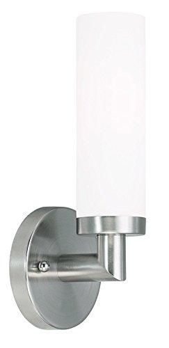 Livex Lighting 10103-91 Aero 1-Light Wall Sconce, Brushed Nickel
