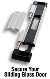 Sliding Glass Door Lock (White)