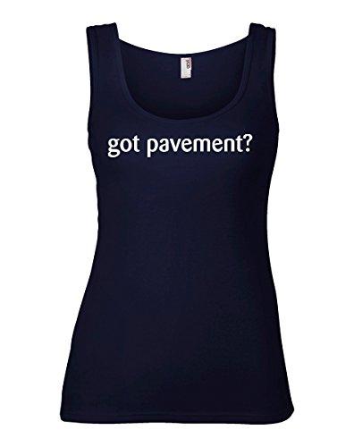 shirtloco Women's Got Pavement Tank Top, Navy Blue Large