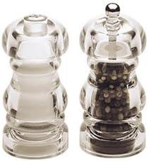 CoolCookware 5 Inch - 13cm LaurelAcrylic Pepper Mill Salt Shaker Set