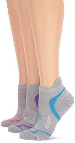 Champion Women's Heel Shield (Pack of 3), grey/pink assortment, 5-9