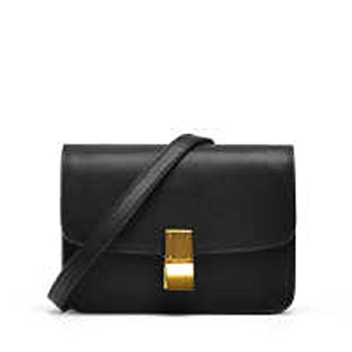 Pelle Lady In Zhi Borsa Wu Black Bag Piccola Quadrata Spalla Messenger P7q6Cw