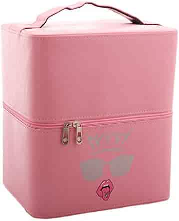 a30cc03a24 Large-Capacity Cosmetic Case Portable Multi-Function Cosmetic Case Simple  Portable Cosmetics 3-