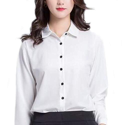 操作故障中どれFoxseon レディース 女性 オフィス シンプル ワイシャツ シフォン 長袖 白Yシャツ
