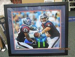 Arian Foster & Matt Schaub Signed & Framed Photograph 16 x 20 - JSA Certified - Autographed NFL Collectibles
