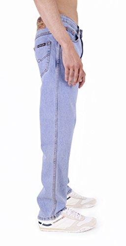 AztecHerren  Straight legJeanshose Blau Lightwash
