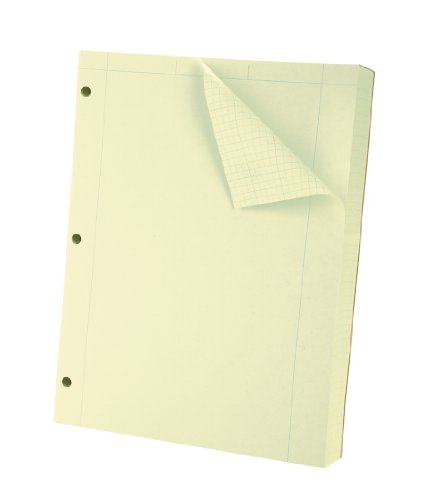 Oxford Engineering Computation Filler Paper, Greentint, 3-Hole Punched, Letter Size, 5 square inch ruling, 500-Sheets (26-145) - Ampad Evidence Square