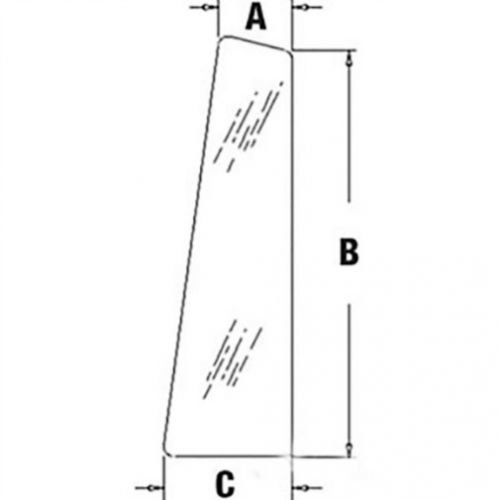 All States Ag Parts Cab Glass - Rear Quarter RH or LH Case 580C CG6124 ()