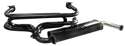 Empi 3647 Single Quiet Pack Exhaust System 1300-1600cc Type 1 Vw Bug & Ghia Single Quiet Pack