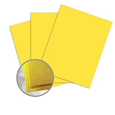 Astrobrights Sunburst Yellow Paper - 8 1/2 x 11 in 60 lb Text Smooth 30% Recycled 500 per Ream