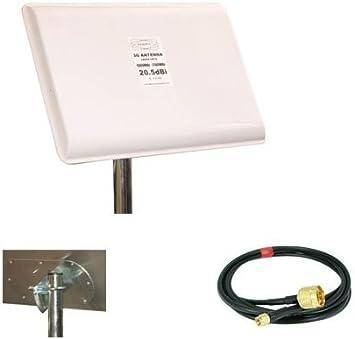 ANTENA panel 20DB 20DBI 3G UMTS HSDPA 5MT HUAWEI crc9 20.5DBI