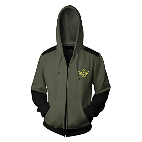 (Unisex Fashion 3D Print The Legend of Zelda Hoodie Pullover (X-Large, Gray))