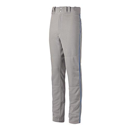 Mizuno Premier Pro Piped G2 Pants, Grey/Royal, X-Large Mizuno Stretch Jersey