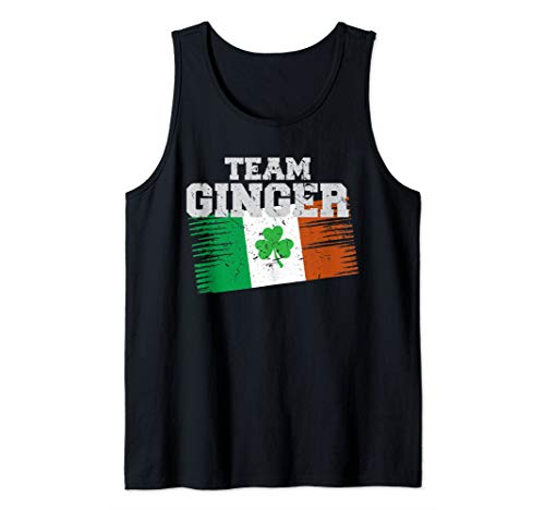 Irish Flag Design | Funny Team Ginger St Paddy's Day Outfit Tank Top]()