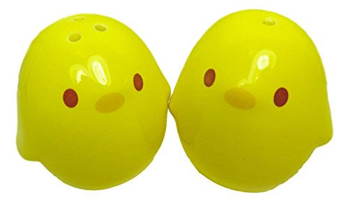 Ceramic Yellow Chick Salt and Pepper Shakers 2 1/4