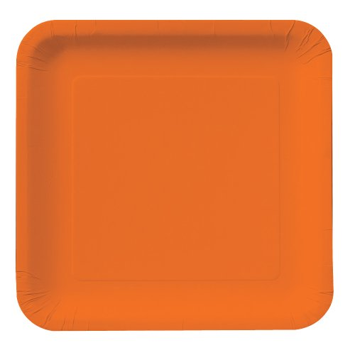 Creative-Converting-Touch-of-Color-18-Count-Square-Paper-Dinner-Plates-Sunkissed-Orange