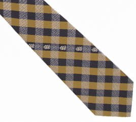 UCF Central Florida Knights Check Neck Tie with NCAA College Sports Team Logo