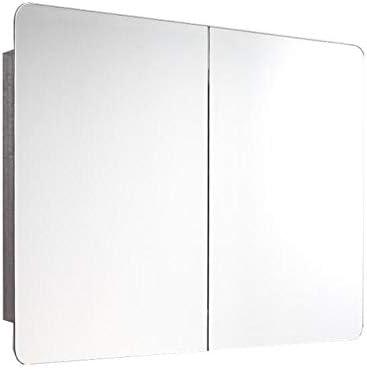 バスルーム ステンレス鋼 薬箱、 壁掛け 収納キャビネット ダブルミラードア付き、 多目的 キッチン薬収納キャビネット