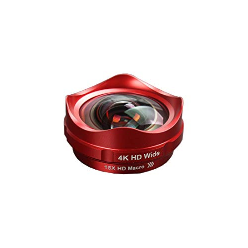 GYTOO Cell Phone Lens 4K Wide-Angle Lens 15X Macro Lens 180°Fisheye Lens Phone External Lens Suitable for Samsung/Android/Most Smartphones and Tablets