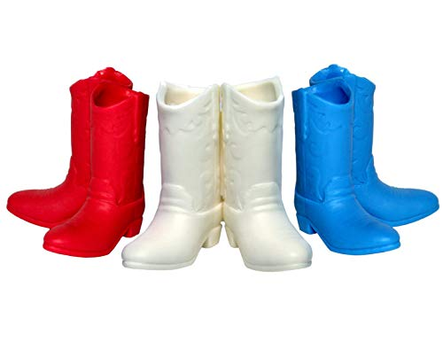 Lucore Red White & Blue American Cowboy Boots Kids Toothbrush Holders, Pencil Organizer Stands Bathroom Home Decor Gift Set