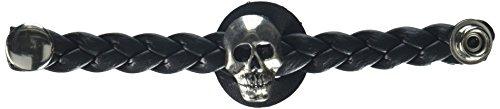 Hot Leathers Braided Skull Vest Extender (Black, 4