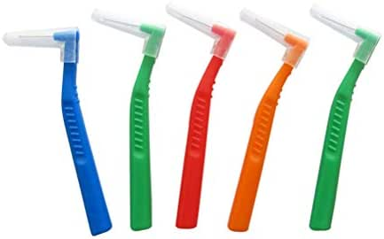 Healifty interdental Brush 5pcs Interdental Brush Cleaners Food Debris Floss Brush Dental Oral Care Tool (Random Color)