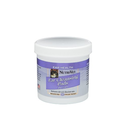 Nutri-Vet Ear Cleansing Pads for Cats, 90-Count