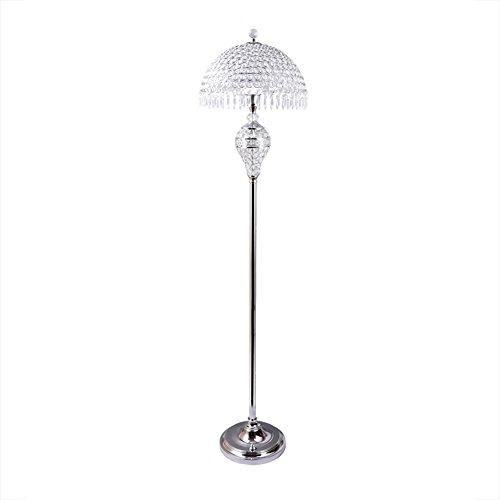 - Hsyile Lighting KU300189 Luxury Wedding European Crystal Floor Lamp for Living Room,Bedroom,Office,Chrome Finish,1 Light