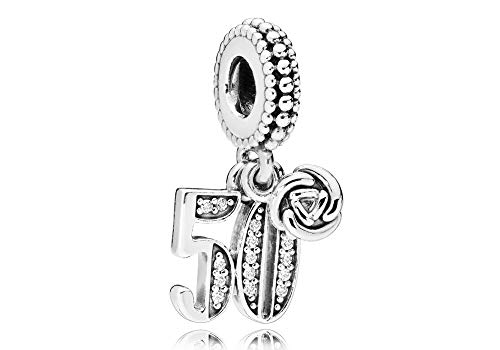 Pandora 50 Years of Love Silver Dangle Charm - Beads Pack 50