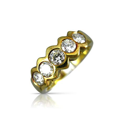 Milano Jewelers .45CT Diamond 14KT Yellow Gold SEMI Bezel Wedding Anniversary Ring #19027