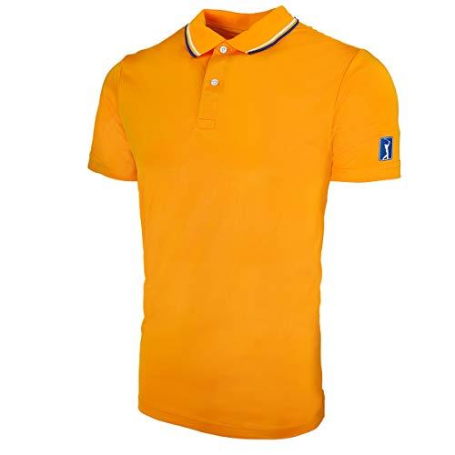 (PGA TOUR Men's Stretch Polo Line Orange S)