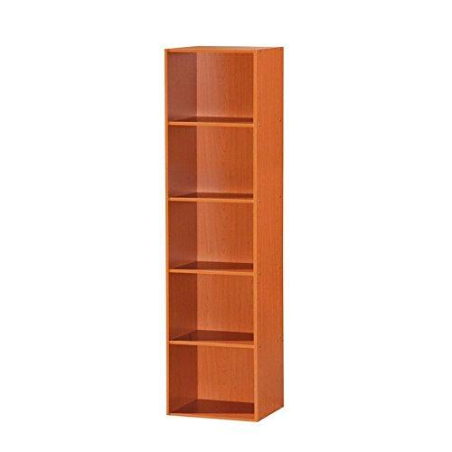 HODEDAH IMPORT Hodedah 5 Shelve Bookcase, Cherry by HODEDAH IMPORT