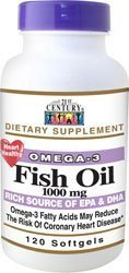 21st Century Omega-3 Fish Oil 1000 mg Softgels 120 Soft Gels by 21st Century