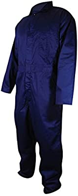 Navy Blue Magid Glove /& Safety N1540M Medium Magid N1540 A.R.C Mandarin Collar Cotton Arc-Resistant Coverall