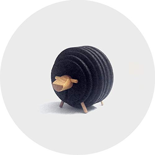 - Sheep Shape Anti Slip Drink Coasters Insulated Round Felt Cup Mats Japan Style Creative Home/Office Decor Nordic Style Gift,Black