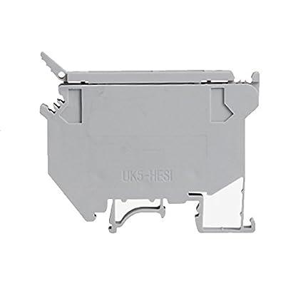 Suyep Contact Type UK 600VAC 4mm Grey Fuse Modular Terminal