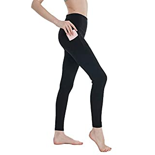 Cupocupa High Waisted Workout Leggings with Pockets for Women Tummy Control;Women's Yoga Pants with Pockets Black-XL