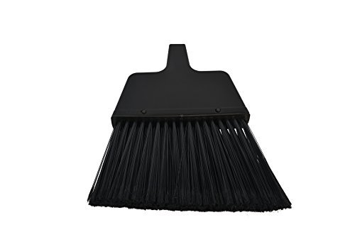 Janico 4053 Bristles Small Angle Broom, Flagged Bristles, Metal Handle,Black