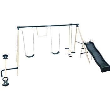 Amazon.com: Flexible Flyer Backyard Fun Swing Set with ...