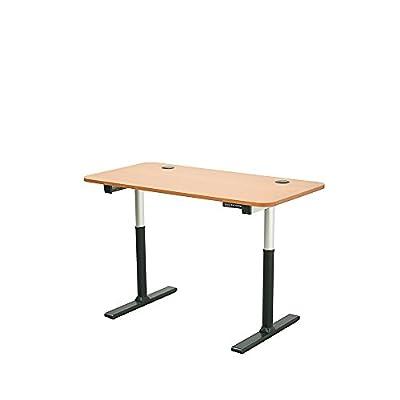 "ApexDesk VT60LTC-M Vortex Series 60"" 6-button Electric Height Adjustable Sit to Stand Desk Frame, Light Cherry"