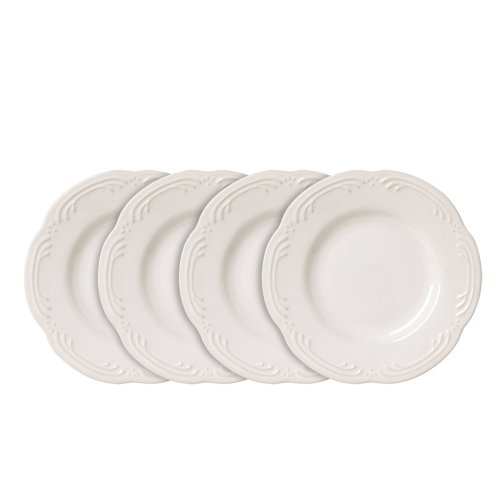Pfaltzgraff Filigree Bread and Butter or Dessert Plates (6-1/4-Inch, Set of 4), White ()