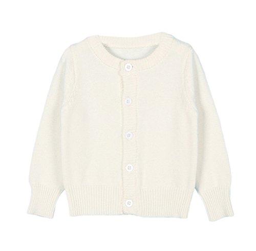 - Taiycyxgan Baby Girls Boys Knits Cardigan Sweater Crew Neck Button-down Sweater Jacket Solid White 80