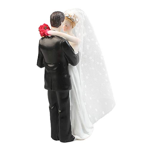- Prettyia Wedding Collection Funny Wedding Cake Topper Bride and Groom Humorous Figurines 6 x 5 x 17cm / 2.36 x 1.96 x 6.69 inch